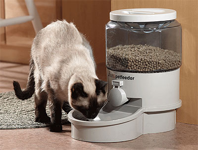 food feeders automatic pet remote digital cat controlled landing feeder